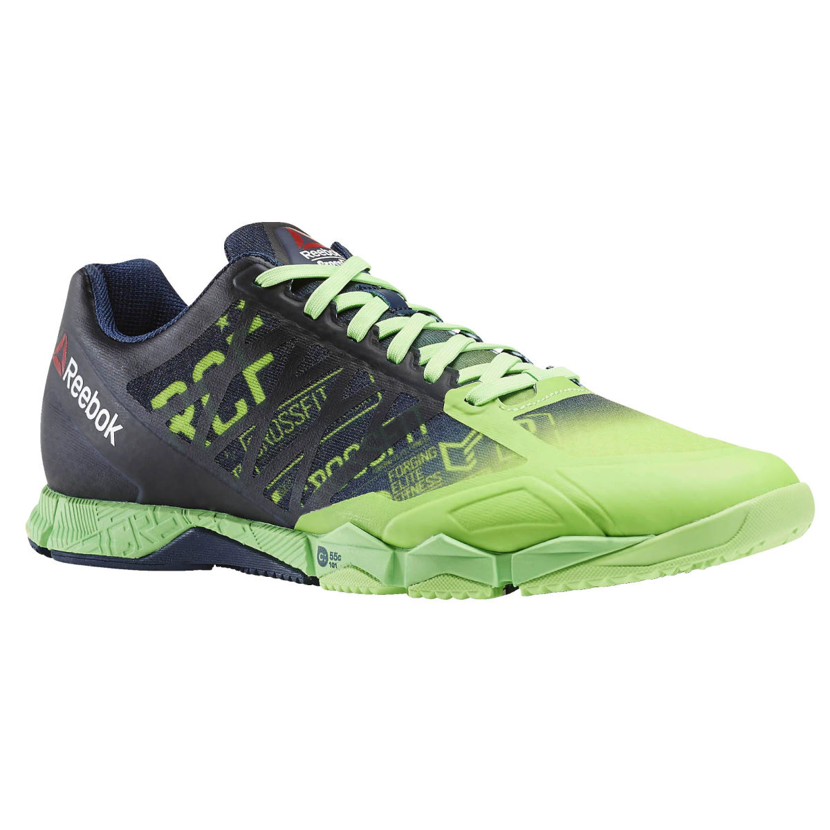 Reebok HIIT TR 1.0 Shoes (SS16) - UK 10.5 Green/Navy