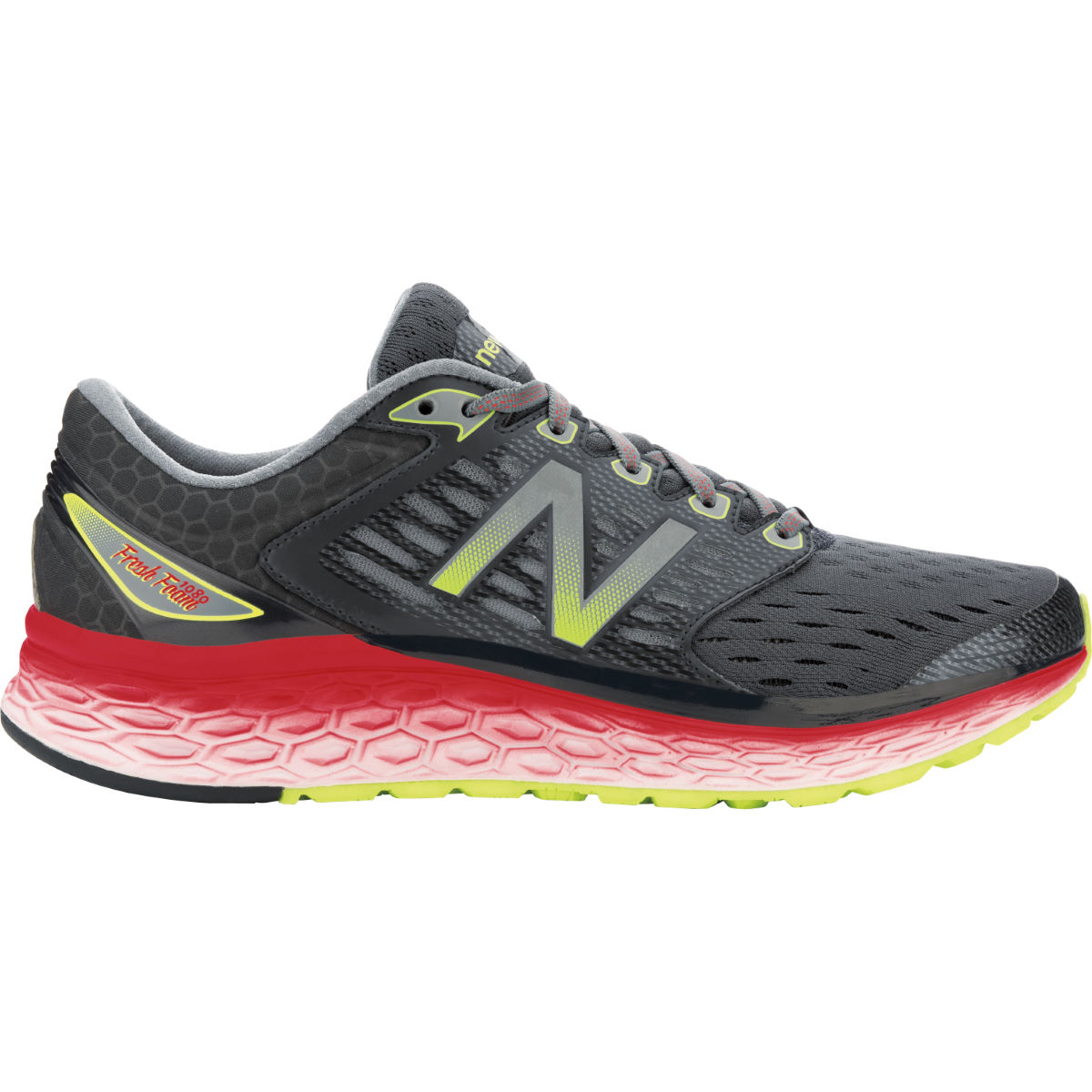 Chaussures New Balance Fresh Foam 1080v6 (AH16) - 7 UK Noir/Rouge Chaussures de running amorties
