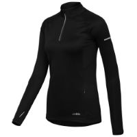 dhb Womens Long Sleeve Quarter Zip Run Top
