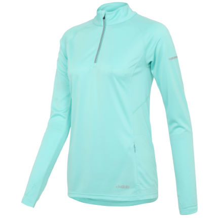 dhb Women's Long Sleeve Quarter Zip Run Top