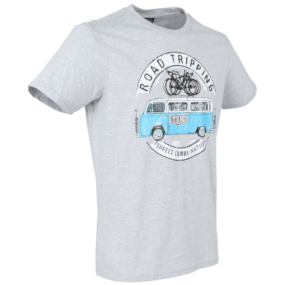 T-shirt Cycology Road Tripping - S Gris T-shirts