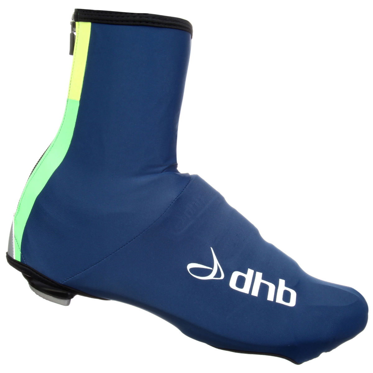 dhb Aeron Speed Overshoe - Medium Navy/Green | Overshoes