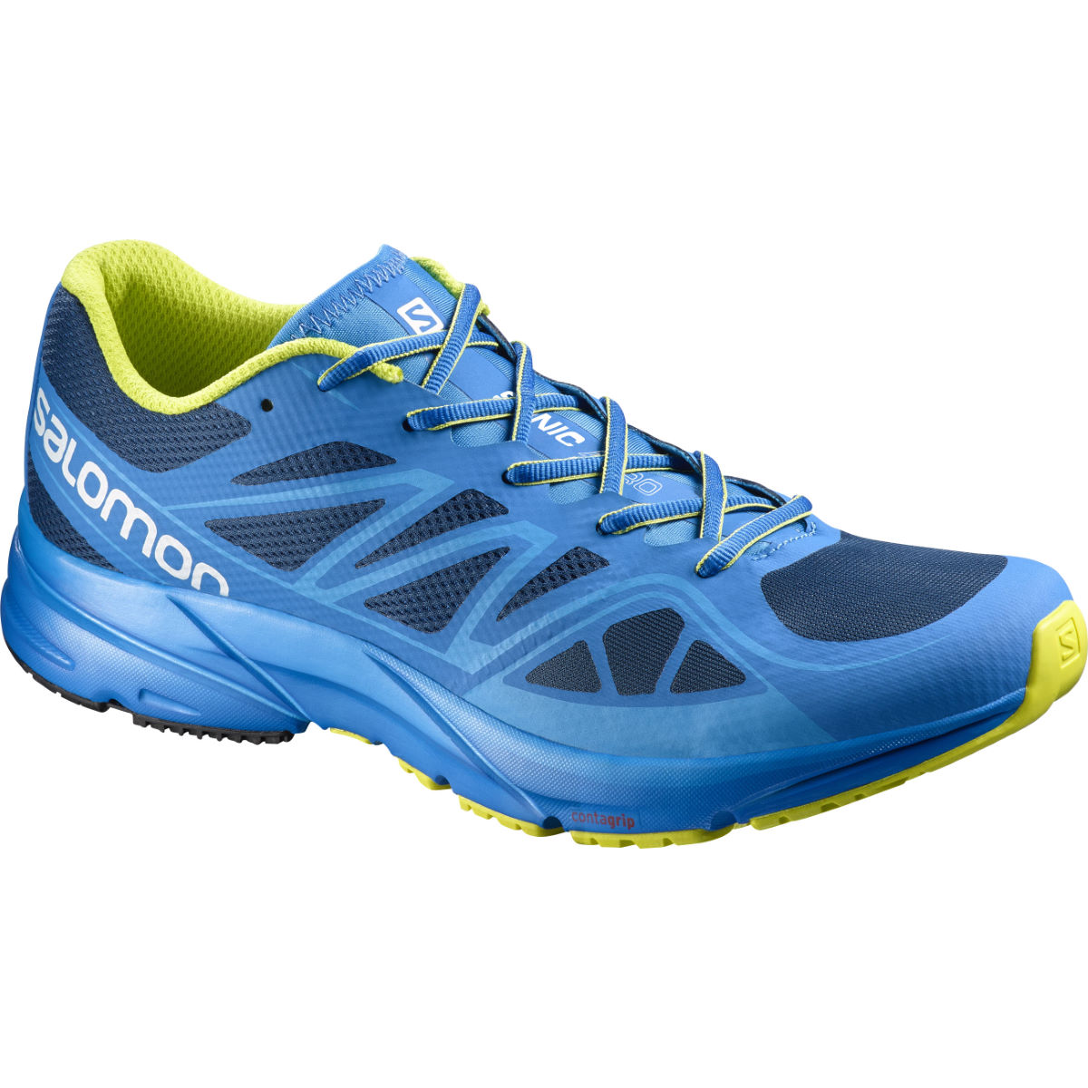 Chaussures Salomon Sonic Aero (AH16) - 10 UK Blue/Green Chaussures de running amorties