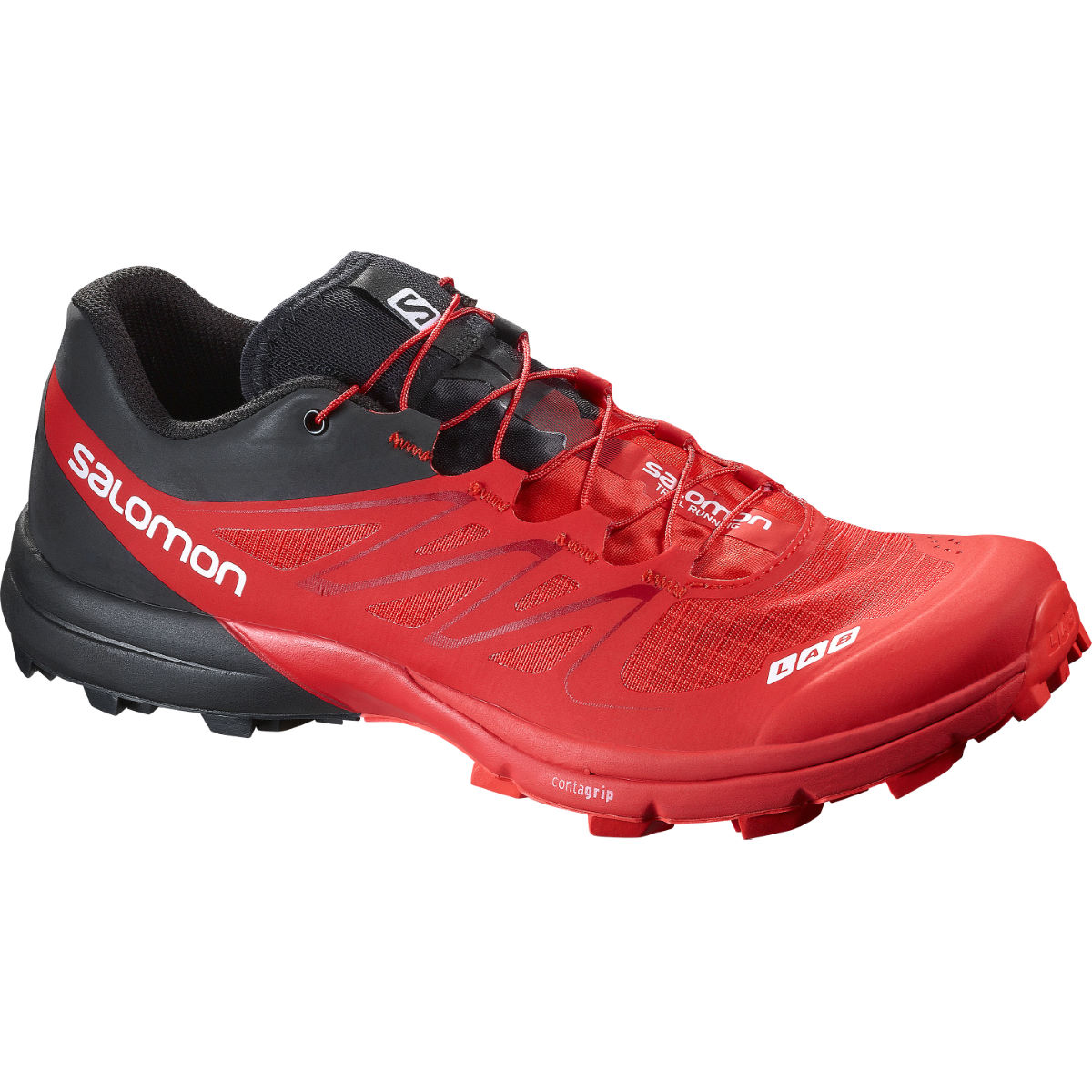 Chaussures Salomon S-Lab Sense 5 Ultra SG (AH16) - 10 UK Red/Black/White Chaussures de running trail