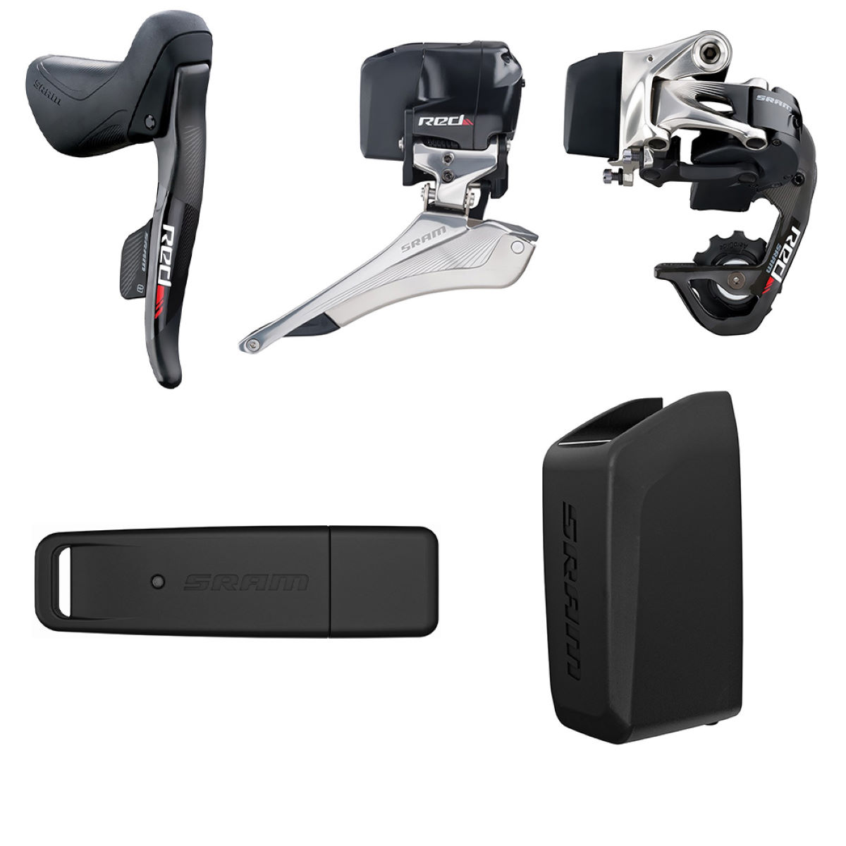 Groupe SRAM Red eTap - Drop Bar Shifters Noir Groupes