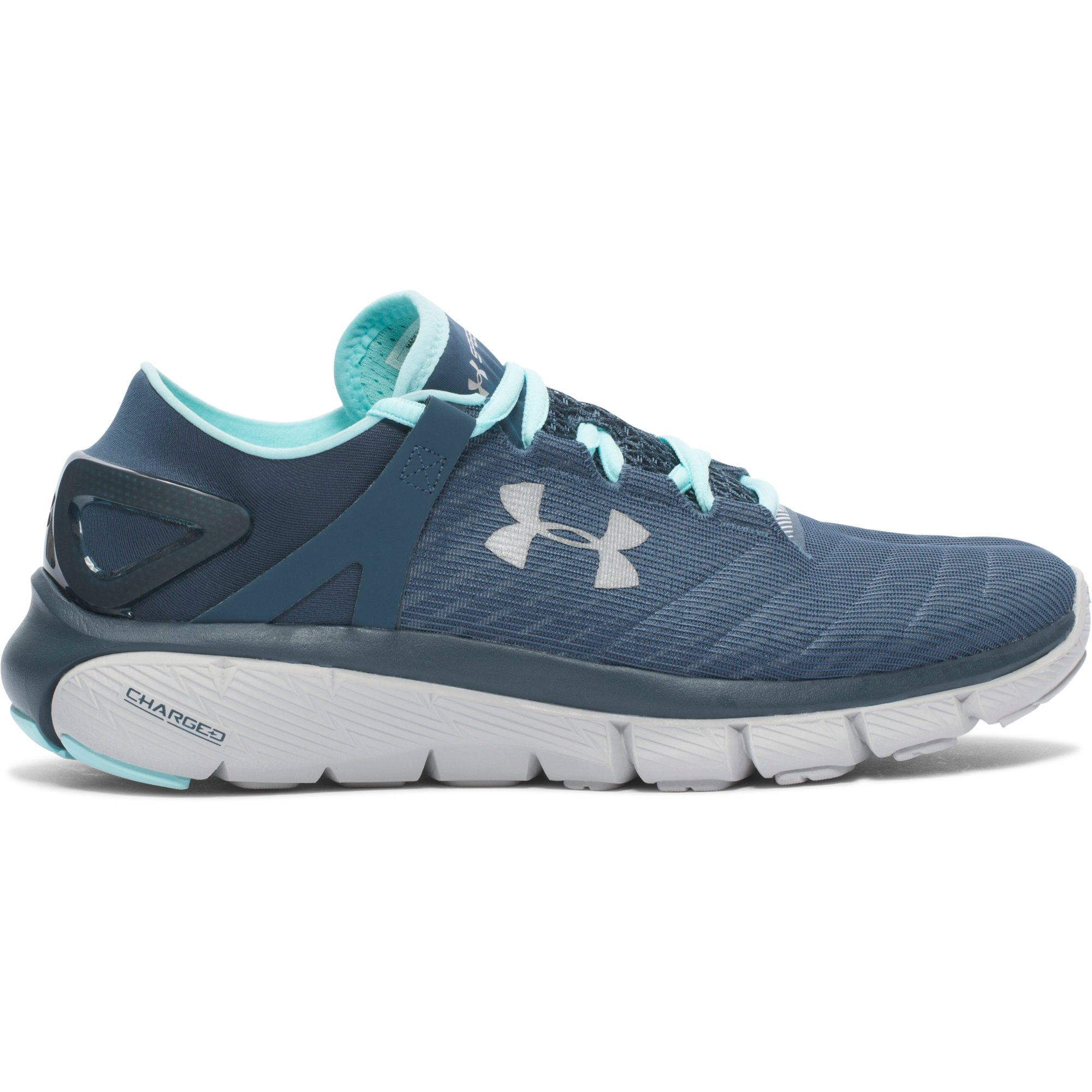blue and grey under armour shoes