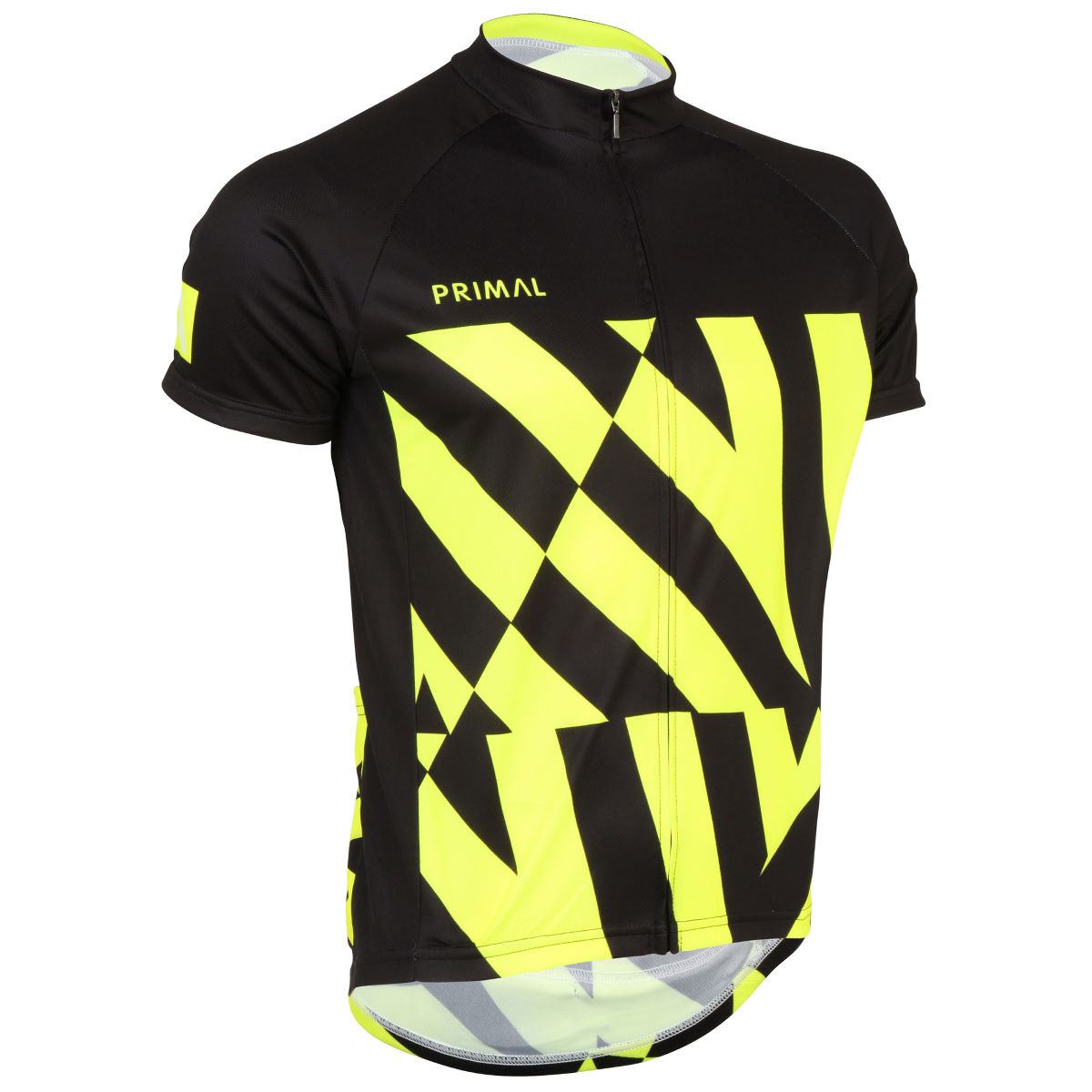 Primal Exclusive Fray Short Sleeve Jersey - Extra Large Yellow/Black