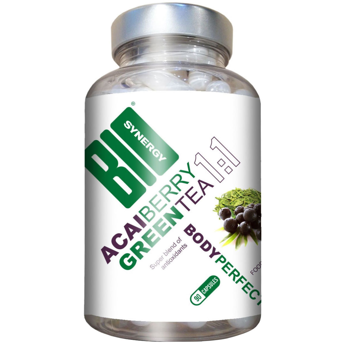 Cápsulas Bio-Synergy Body Perfect Acai Berry Green Tea (90 unds.) - Suplementos vegetales