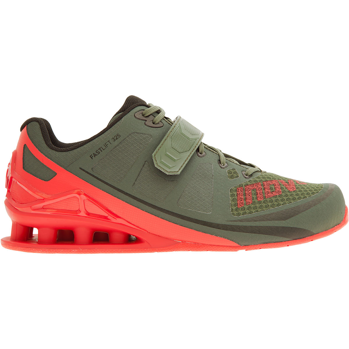 Chaussures d'haltérophilie Inov-8 Fastlift 325 - 11 UK Green/Red