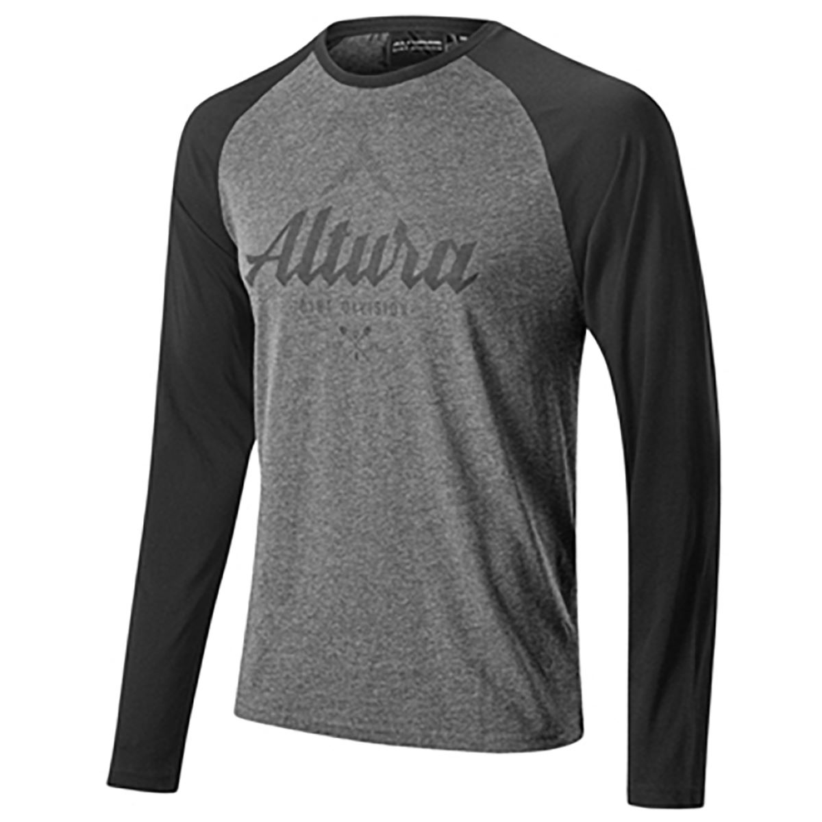 Altura Script Long Sleeve T-shirt - Small Grey | Tees