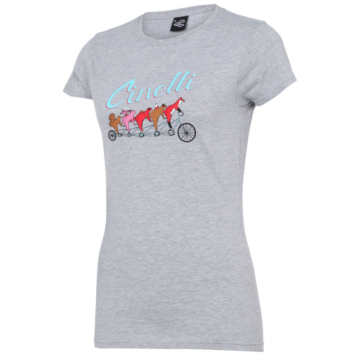 T-shirt Femme Cinelli Forest Friend by Emily May Rose - L Gris