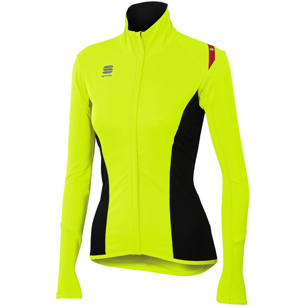 Maillot Femme Sportful Fiandre Light NoRain - M Yellow Fluo Maillots
