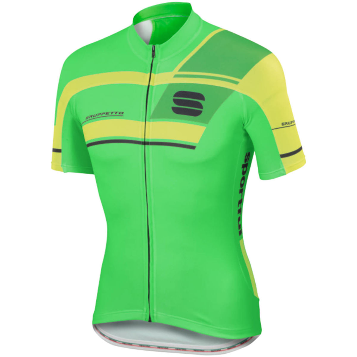 Maillot Sportful Gruppetto Pro Team (PE16) - XXL Green/Yellow Maillots vélo à manches courtes