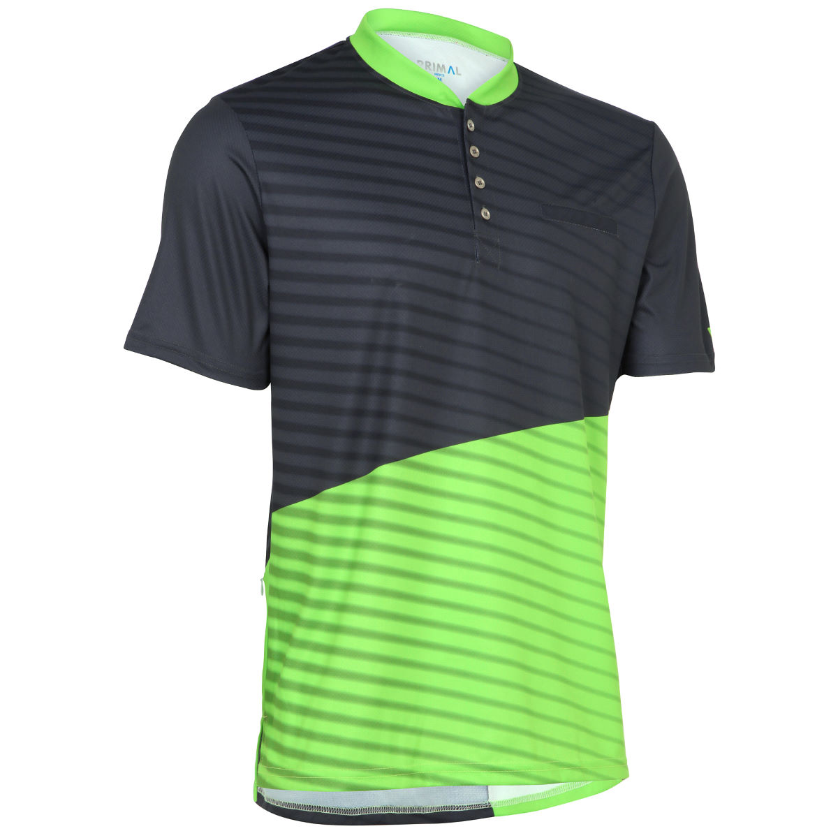 Maillot Primal Boundary Henley - XS Vert Maillots