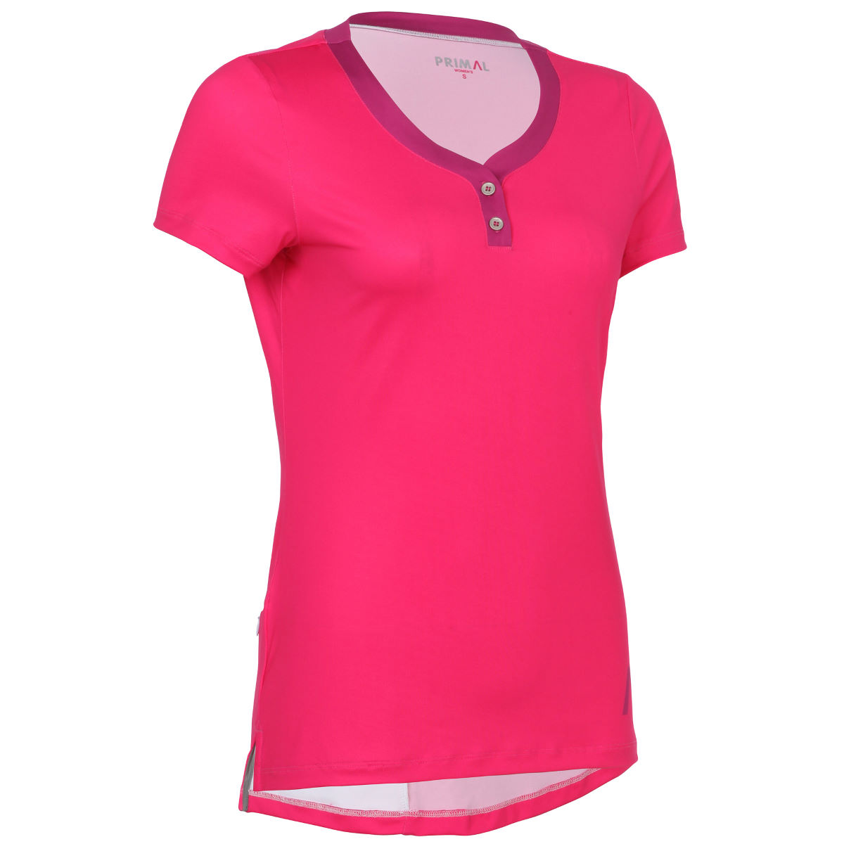 Maillot Femme Primal Henley - S Rose Maillots vélo à manches courtes
