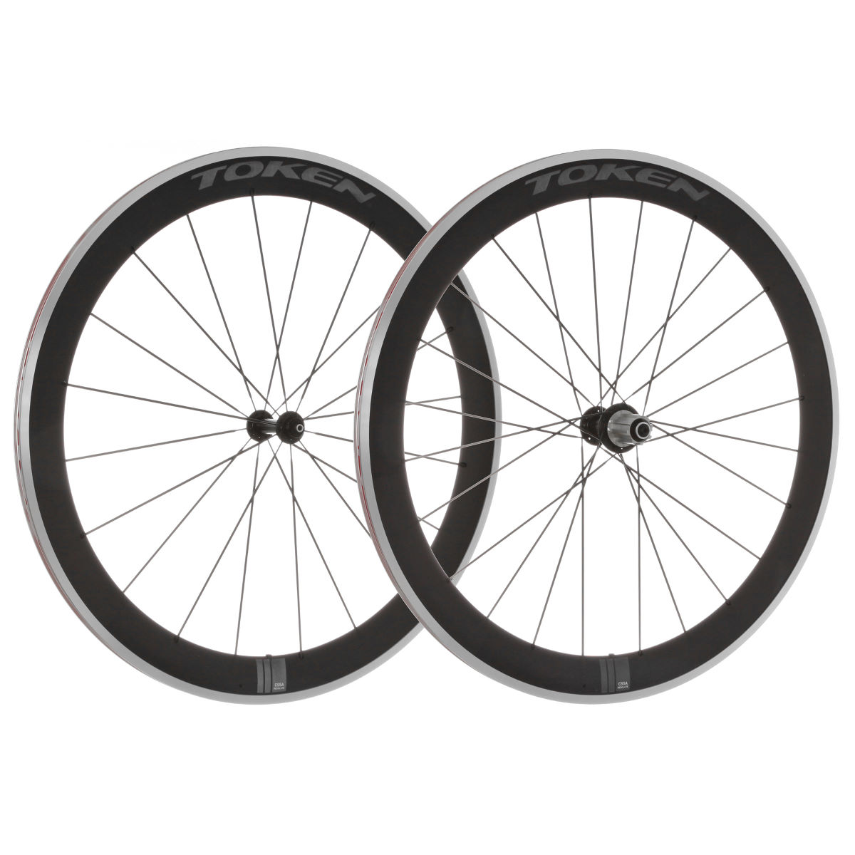 Paire de roues Token C55A (alliage/carbone) - Campagnolo 10/11 Spd