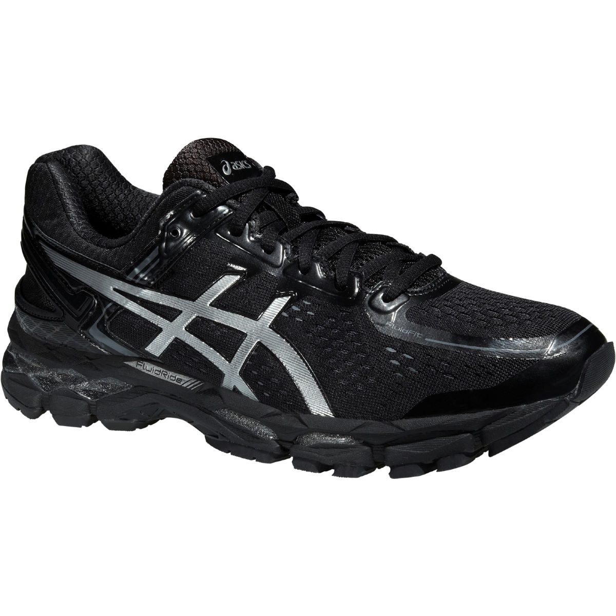 Chaussures Asics Gel-Kayano 22 (noires) - 10 UK Onyx/Silver/Charcoal Chaussures de running stables