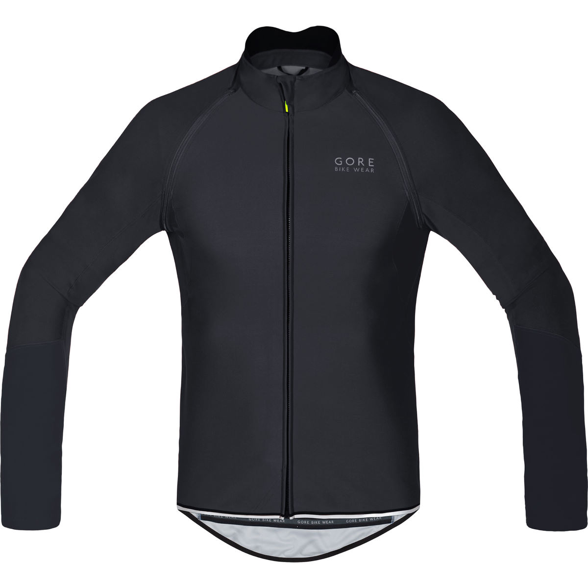 Maillot Gore Bike Wear Power Windstopper Softshell (zippé) - M Noir