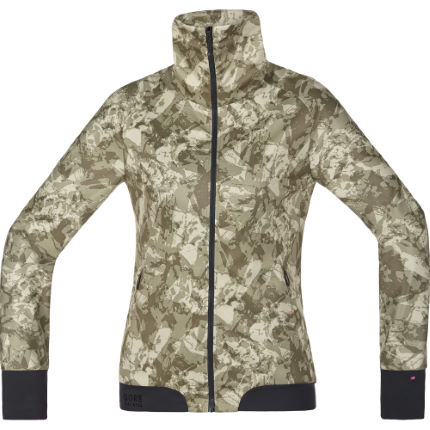 Chaqueta Gore Bike Wear Power Trail Print Windstopper para mujer