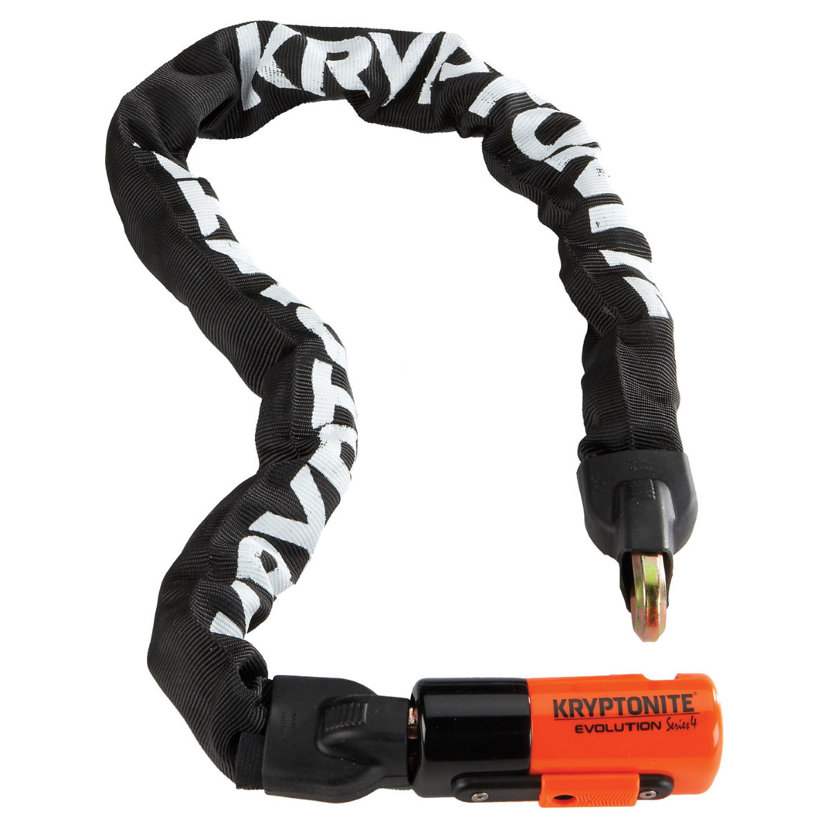 Antivol Kryptonite Evolution Series 4 (chaîne intégrée) - Noir/Orange