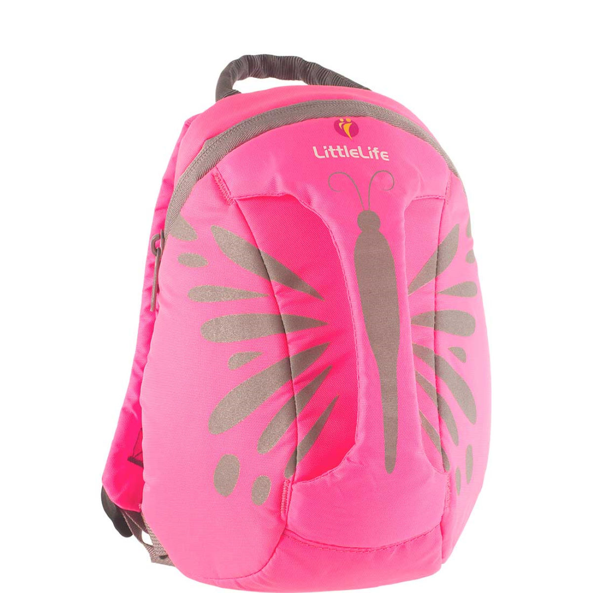 Sac à dos Enfant LittleLife Papillon (hautement visible) - Hi-Vis Pink