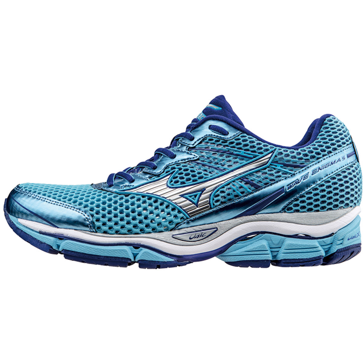 Chaussures Femme Mizuno Wave Enigma 5 (PE16) - 4 UK Blue/Silver/Blue Chaussures de running amorties