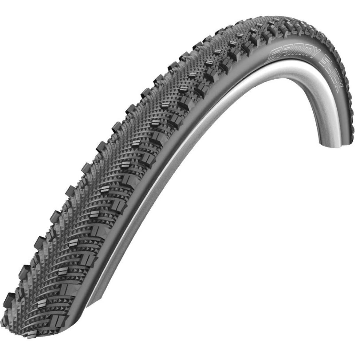Pneu de cyclo-cross Schwalbe Sammy Slick (souple) - 700 x 35c Noir Pneus cyclo-cross