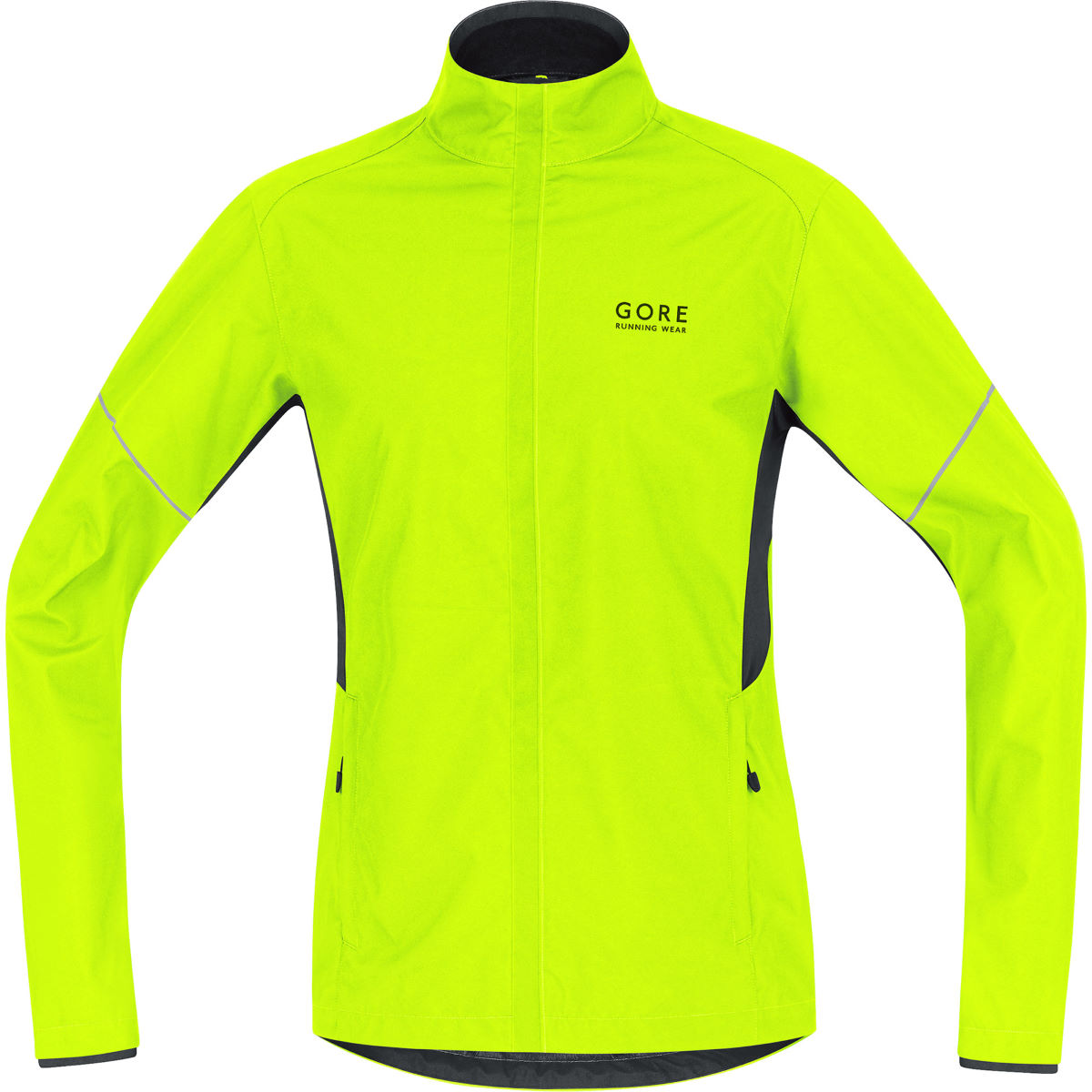 Veste Gore Running Wear WINDSTOPPER® Active Shell Partial (AH16) - S Neon Yellow/Black Vestes de running coupe-vent