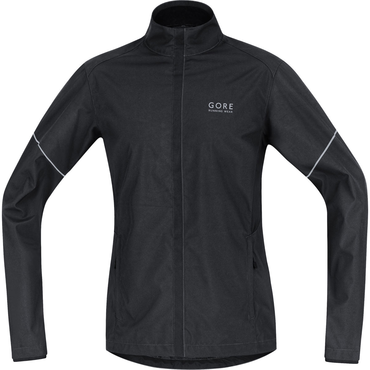 Veste Gore Running Wear WINDSTOPPER® Active Shell Partial (AH16) - S Noir Vestes de running coupe-vent