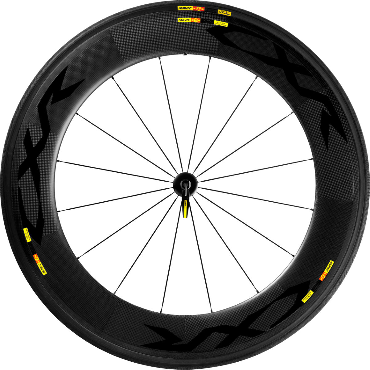 Roue avant à boyau Mavic CXR Ultimate 80 (carbone) - 700c - Tubular Noir Roues performance
