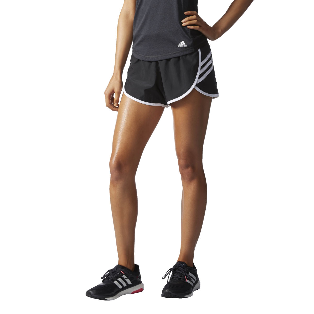 Adidas Womens Ultimate 3Stripes Shorts (AW16)   Running Shorts