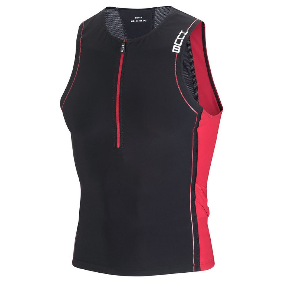 Haut de triathlon HUUB Core - XL Noir/Rouge Hauts de triathlon