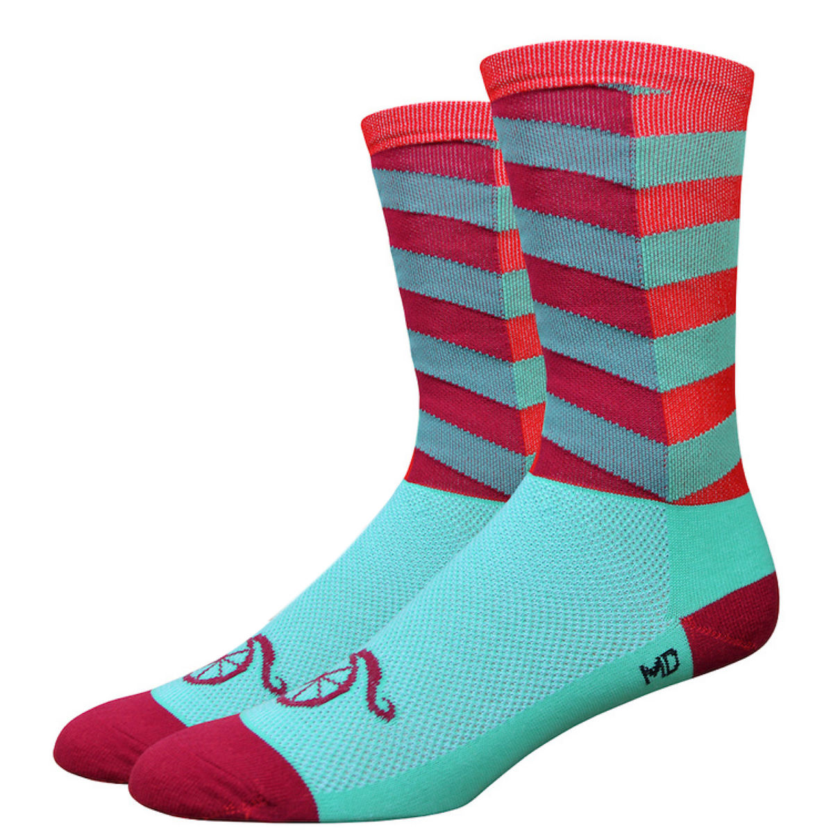 DeFeet Handlebar Moustache City Socks