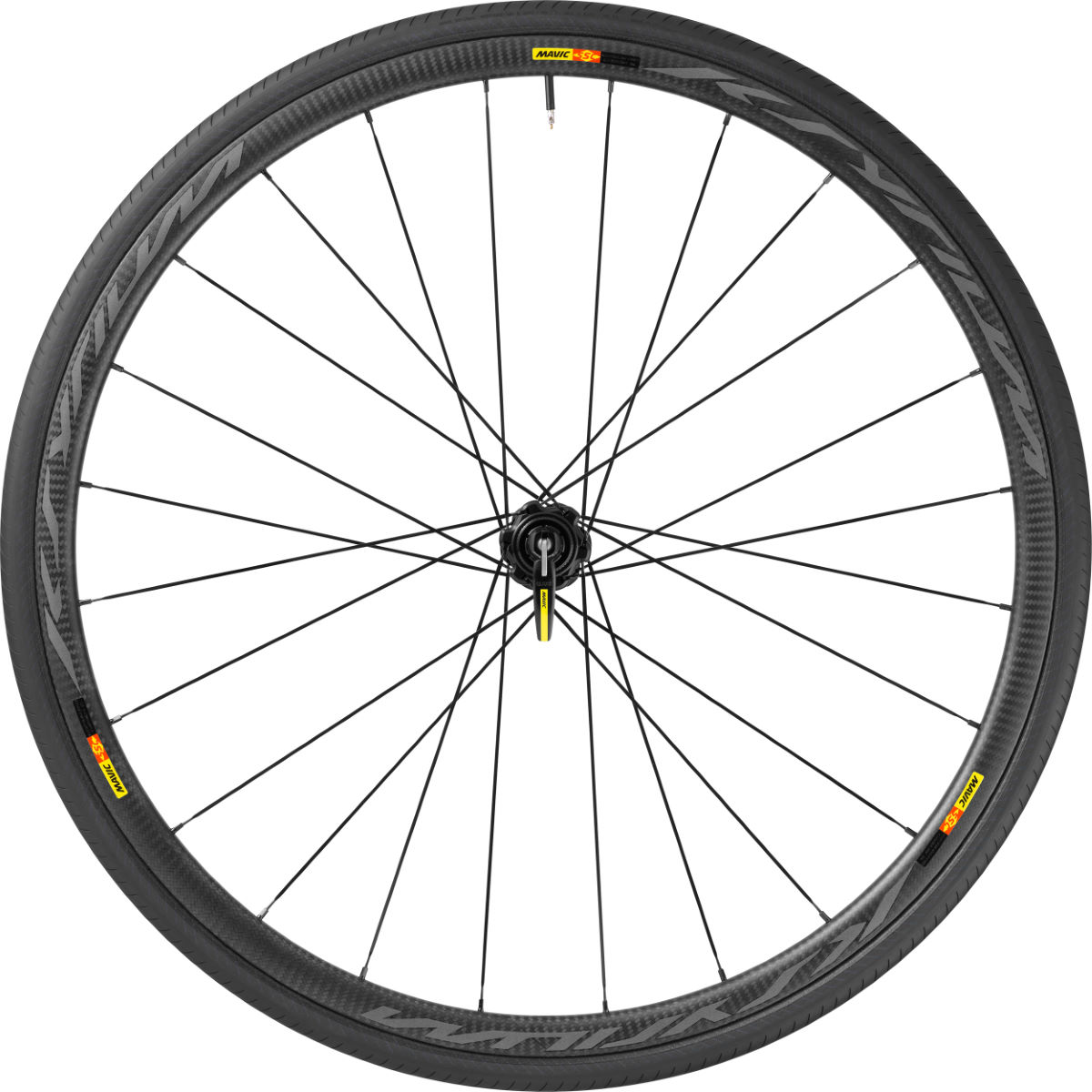 Roue avant Mavic Ksyrium Pro SL (carbone, disque, WTS) - 700c - Clincher Black - 6 Bolt Roues performance