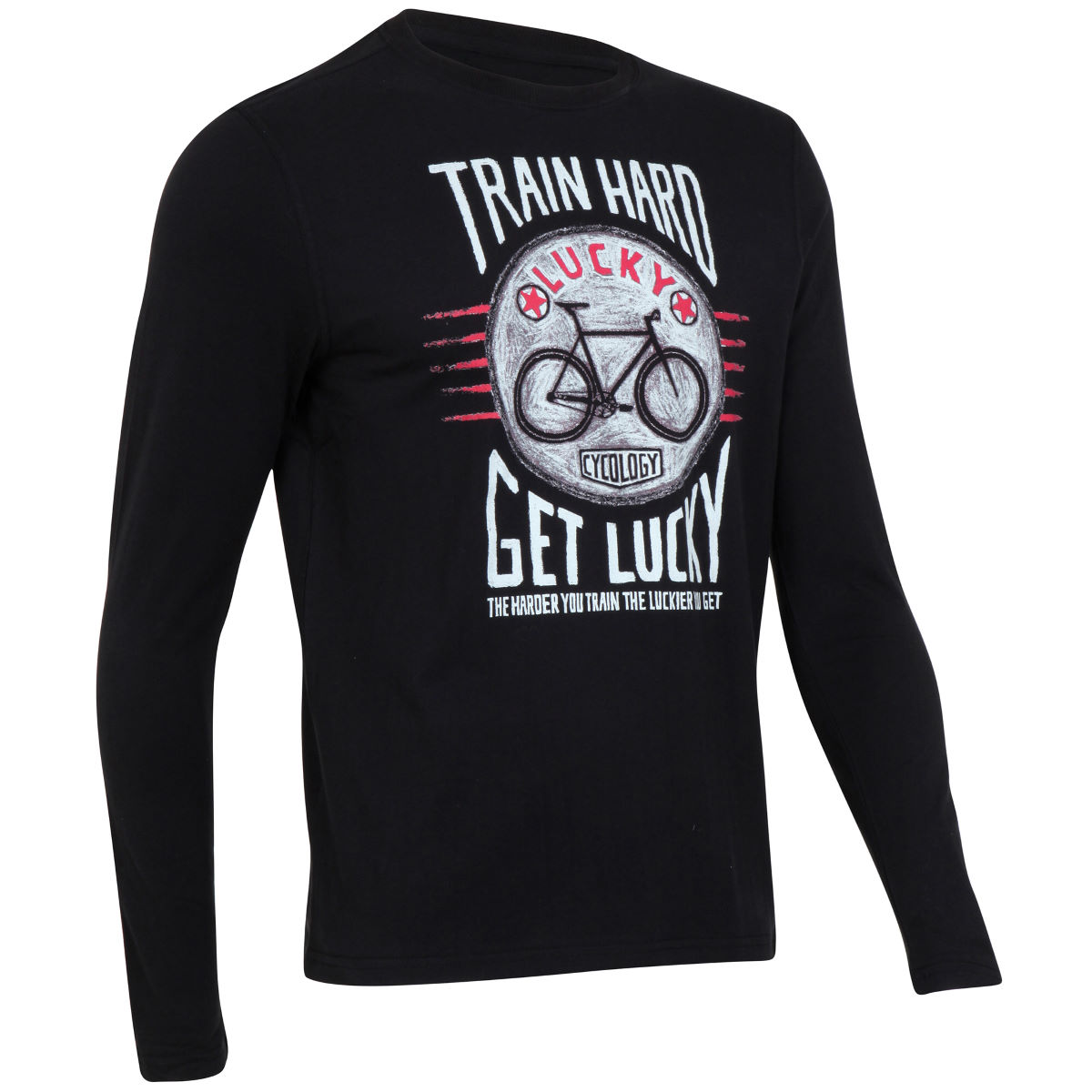 Maillot Cycology Train Hard Get Lucky (manches longues) - XXL Noir