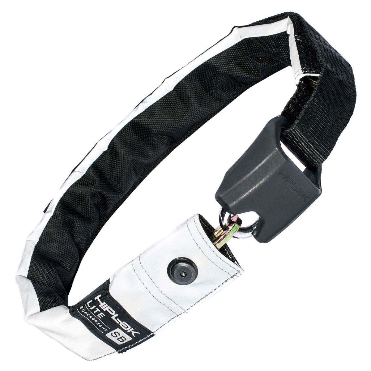 Antivol pour vélo Hiplok Lite Superbright Wearable - Blanc/Blanc