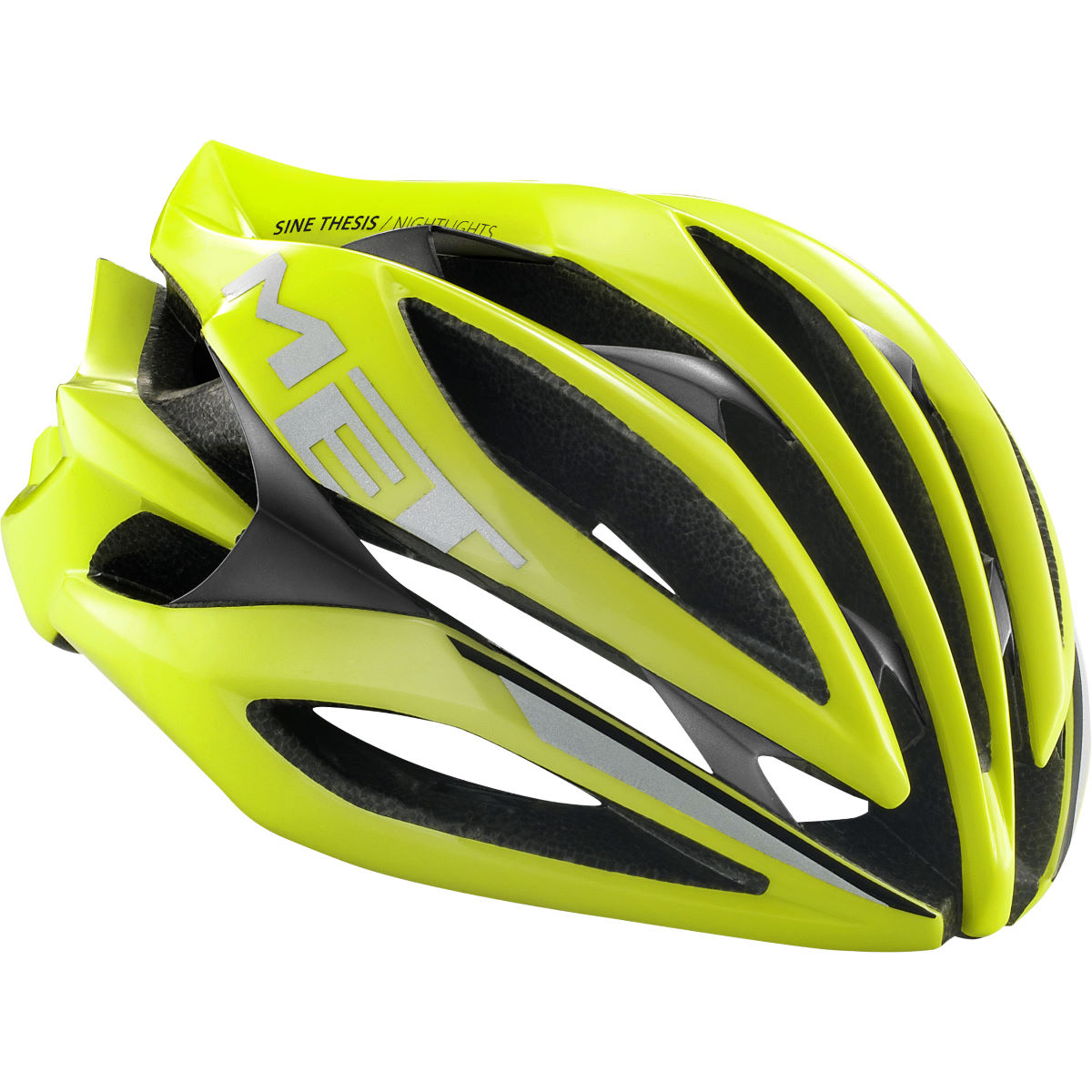 Casque de route MET Sine Thesis - M Jaune Casques de route