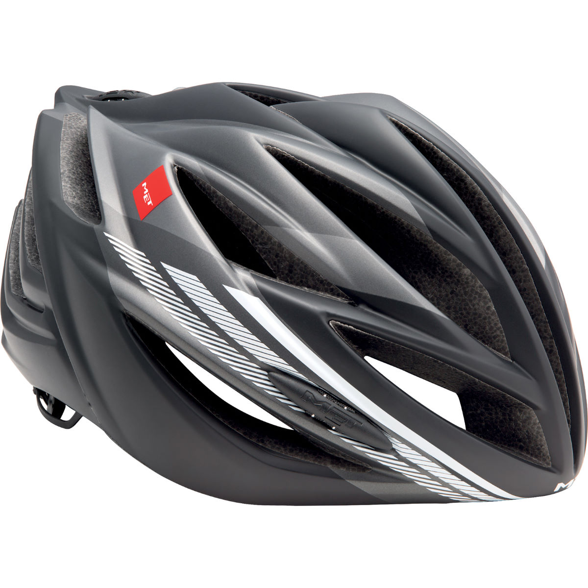 Casque de route MET Forte - Medium Anthracite/White Casques de route