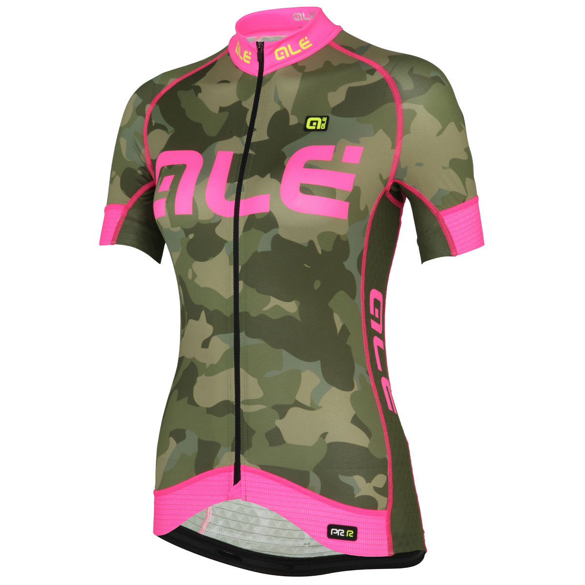 Maillot Femme Alé Graphics PRR Camo - S Green/Pink Maillots