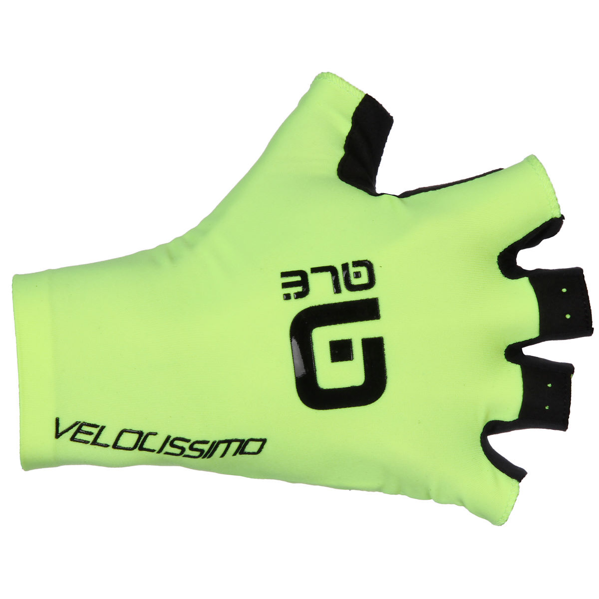 Gants courts Alé Crono Velocissimo - Small Fluro Yellow/Black