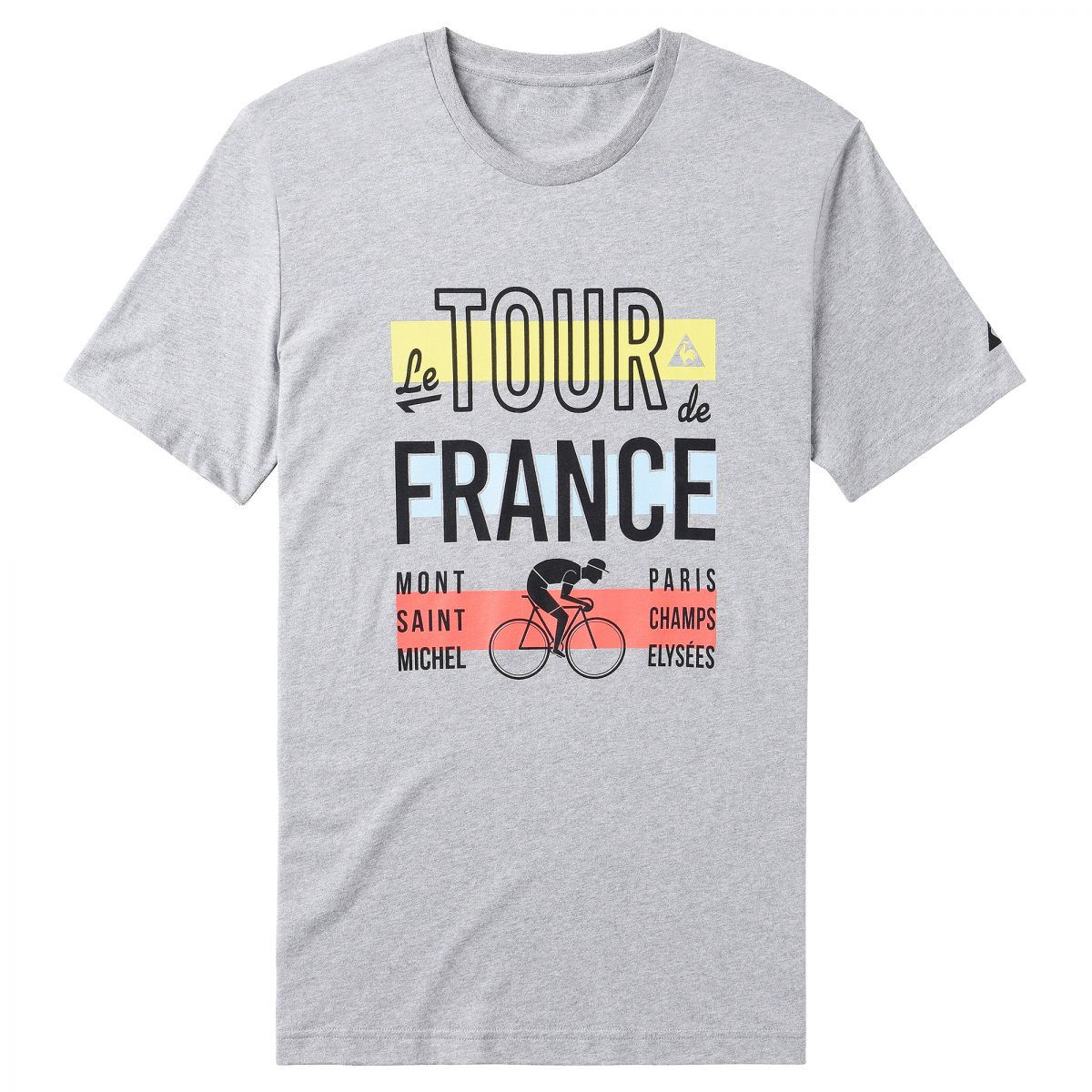 Le Coq Sportif TDF Fan No4 T-Shirt (2016) - Medium Grey | Tees