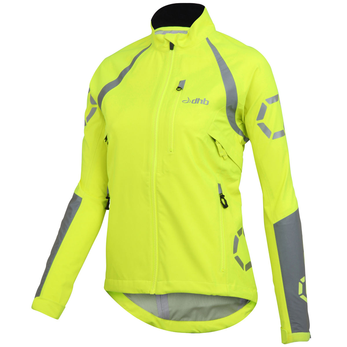 Veste Femme dhb Flashlight Force (imperméable) - 16 UK Fluro Yellow