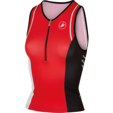 Castelli Women's Core Tri Singlet (2016) Red/White XL