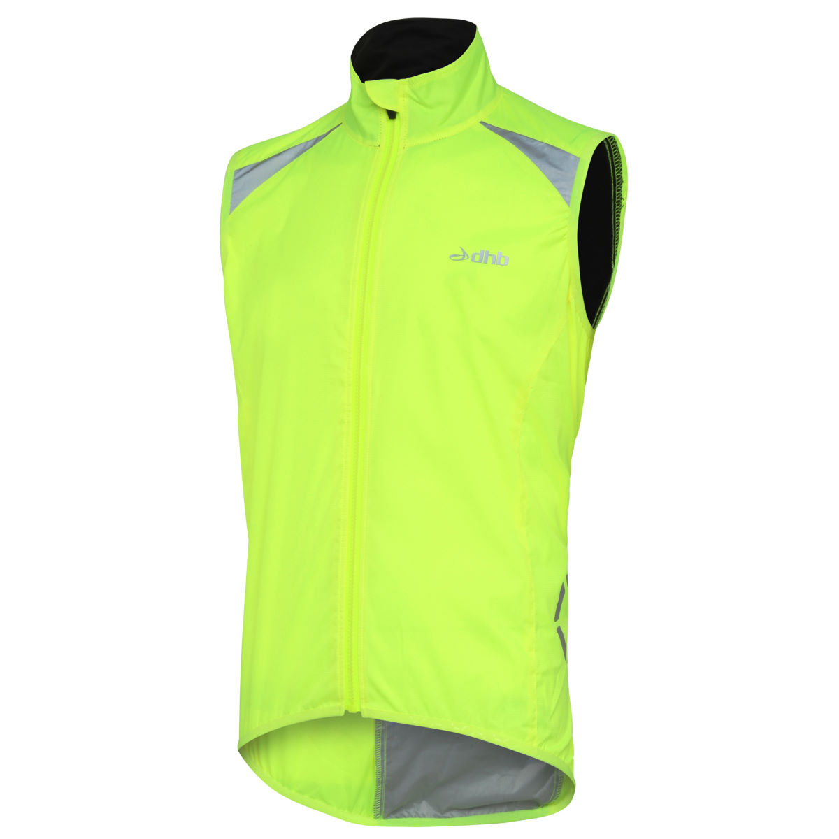 Gilet dhb Flashlight (coupe-vent, sans manches) - L Fluro Yellow