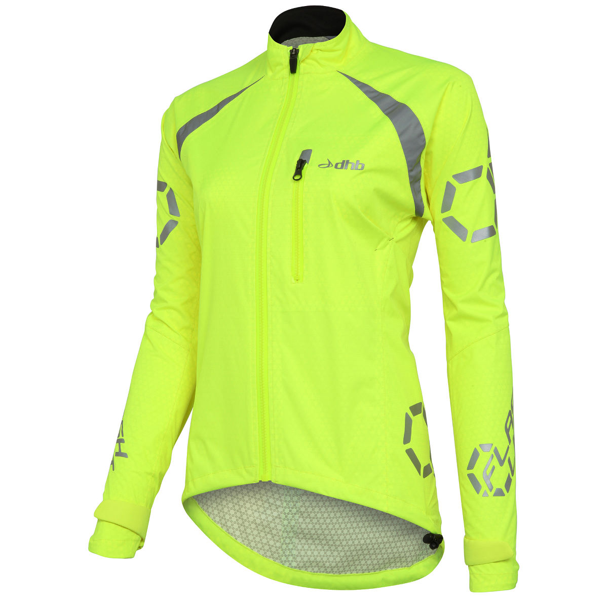 Veste Femme dhb Flashlight (imperméable) - 16 UK Fluro Yellow Vestes