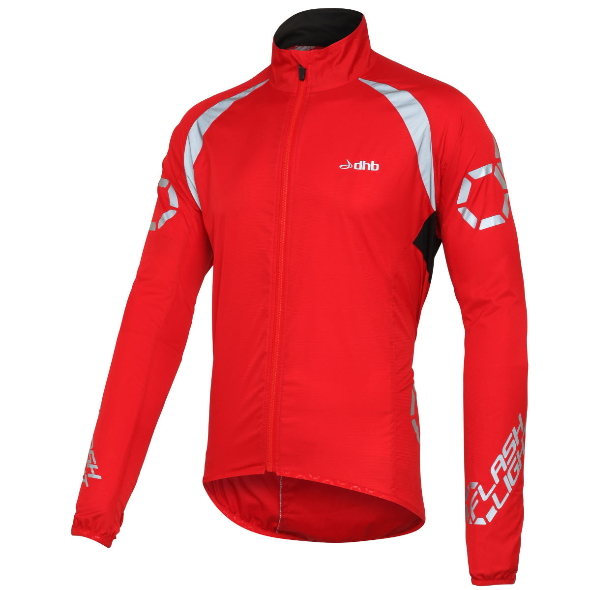 Veste dhb Flashlight (coupe-vent) - M Rouge Coupe-vents vélo