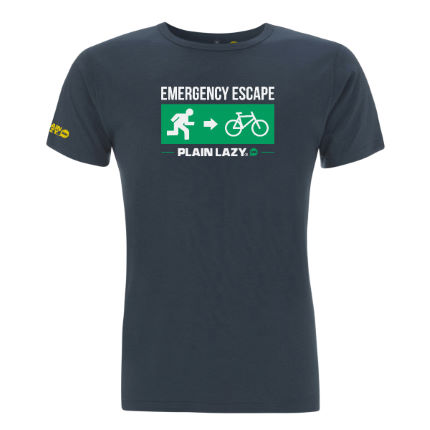 T-shirt Plain Lazy Escape Bike Bamboo