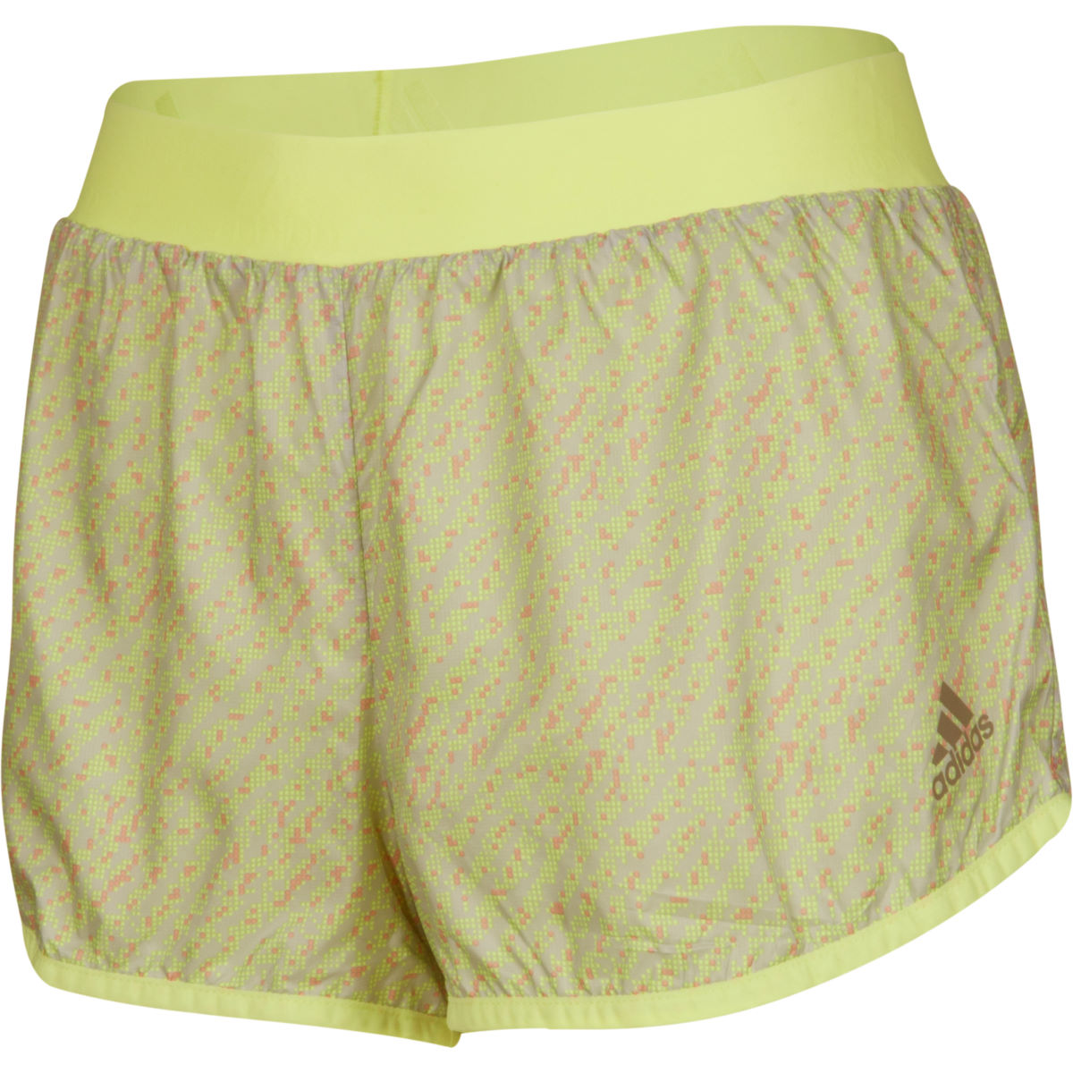 Short Femme Adidas Run 2 Way (AH15) - 12 UK Onix/Yellow Shorts de running