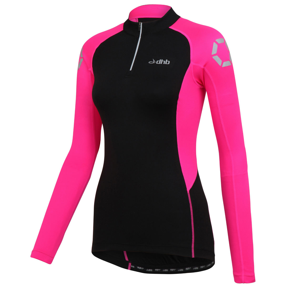 Maillot Femme dhb Flashlight (manches longues) - 8 UK Fluro Pink