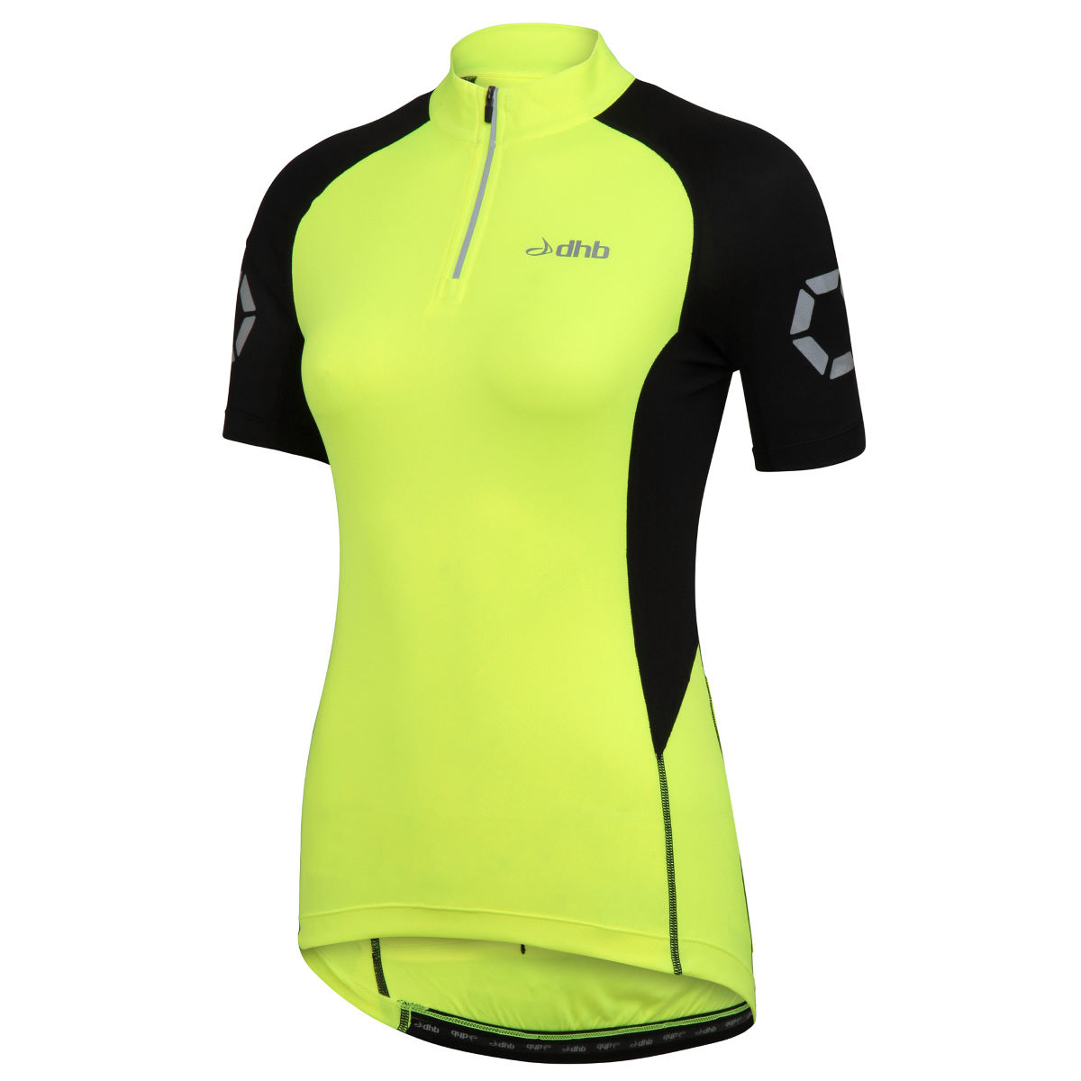Maillot Femme dhb Flashlight (manches courtes) - 8 UK Fluro Yellow